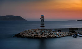 Sea lighthouse at sunset, Kas - Antalya Stock Photo