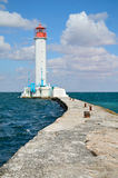 Sea lighthouse Stock Images