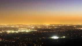 Sea of lights: Pasadena at sunset Stock Photos