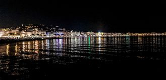 Cannes by night royalty free stock image