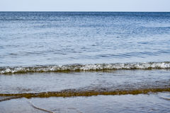 Sea line of the horizon. Sea and sky. The waves and glare of the sun are reflected from the waves of the sea. Seascape. Sea line of the horizon. Sea and sky Stock Photos
