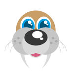 Sea lion funny face isolated icon Royalty Free Stock Image