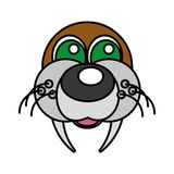 Sea lion funny face isolated icon Stock Photo