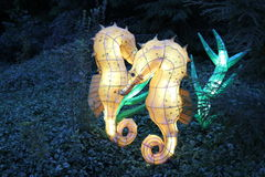 Sea lion lantern. An example of Chinese lantern for Festival in Montreal Botanical Garden until November 4th Stock Photos