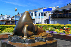 Sea Lion Sculpture Stock Photo