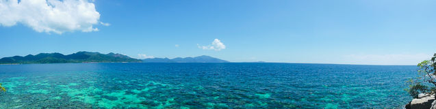 The sea with  Lipe island in Satun Thailand -Panorama Royalty Free Stock Image
