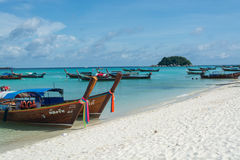 Sea At Lipe Island in Thailand. Beautiful Clear sea with clouds in Lipe Island at Thailand stock photography