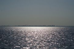 The sea lit with the sun Royalty Free Stock Image