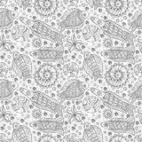 Sea live. Decorative seamless pattern with fishes. Stock Photos