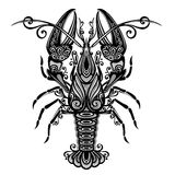 Sea lobster. Vector Sea Lobster. Patterned design Stock Photo