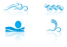 Sea logo elements Stock Image