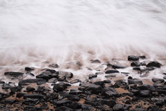 Sea long exposure detail abstract Stock Photography