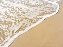 The sea  long the shoreline from an Italian beach Stock Photos