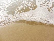 The sea long the shoreline from an Italian beach Stock Image
