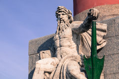 Sea lord sculpture Royalty Free Stock Photo