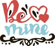 Sea los míos para el día de tarjetas del día de San Valentín Imagen de archivo libre de regalías