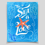 The Sea is Love greeting card Stock Photo