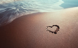 Sea love sign Stock Photography