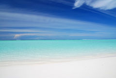 Sea and Maldives Stock Photo