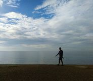 The sea and a man royalty free stock photos