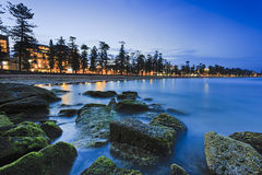 Sea Manly Beach Alga Dark Royalty Free Stock Image