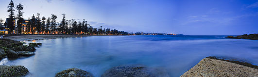 Sea Manly Beach Dark Pan Stock Photography