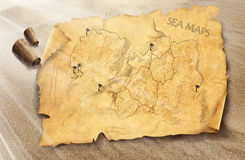 Sea map stock photos