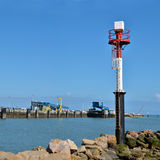 Sea mark port of Ouistreham in France Royalty Free Stock Photography