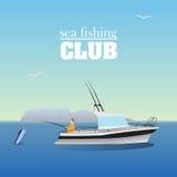 Sea marlin fishing on the boat Stock Photography