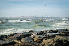 Sea of Marmara on a stormy day Royalty Free Stock Images