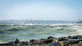 Sea of Marmara on a stormy day Stock Photography