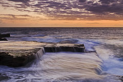 Sea Maroubra Flat flow magenta Stock Photography
