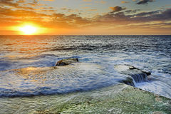 Sea Maroubra Left Sun rise Royalty Free Stock Photo