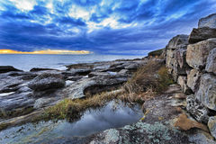 Sea Maroubra Puddle Wall Royalty Free Stock Photography