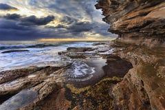Sea Maroubra Rocks right Royalty Free Stock Photos