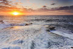 Sea Maroubra Sun inwave Stock Images