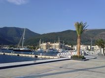 Porto Montenegro. Is a full service marina located in the Bay of Kotor offering berths, luxury residences Stock Photography