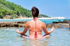Sea meditation Royalty Free Stock Photo