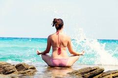 Sea Meditation Stock Image