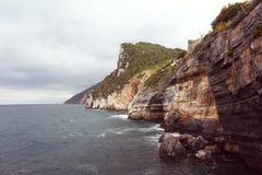 Sea meets the mountain Stock Photo