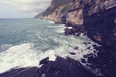 Sea meets the mountain Stock Photography