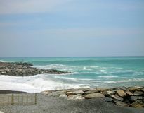 When sea meets river. royalty free stock photo