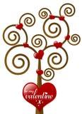 Sea mi árbol de la tarjeta del día de San Valentín Fotografía de archivo libre de regalías