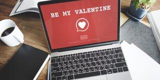 Sea mi concepto romántico de la pasión del amor del corazón de Valantine Foto de archivo