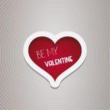 Sea mi diseño de Valentine Heart Imagen de archivo libre de regalías
