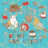 Sea mi fondo de la tarjeta del día de San Valentín Fotografía de archivo libre de regalías