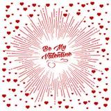 Sea mi fondo del starburst de la tarjeta del día de San Valentín libre illustration