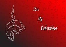 Sea mi papel pintado de la tarjeta del día de San Valentín Fotografía de archivo