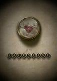 Sea mi steampunk de la tarjeta del día de San Valentín Fotografía de archivo