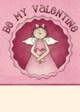 Sea mi tarjeta de felicitación de la tarjeta del día de San Valentín Foto de archivo libre de regalías